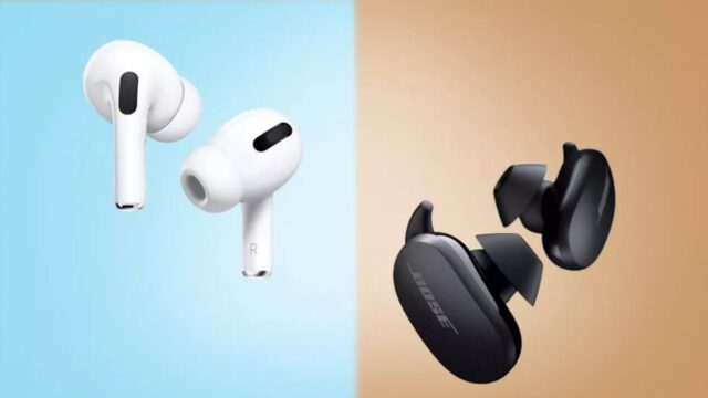 Bose QuietComfort Earbuds vs Apple Airpods Pro Earbuds: which noise-cancelling earbuds are best
